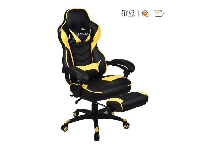 video game chair wedding covers worcester elecwish high back pu leather racing office 360 swivel with widen