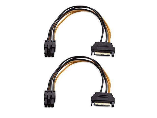 cable matters 2-pack 6 pin to sata power cable (sata to 6
