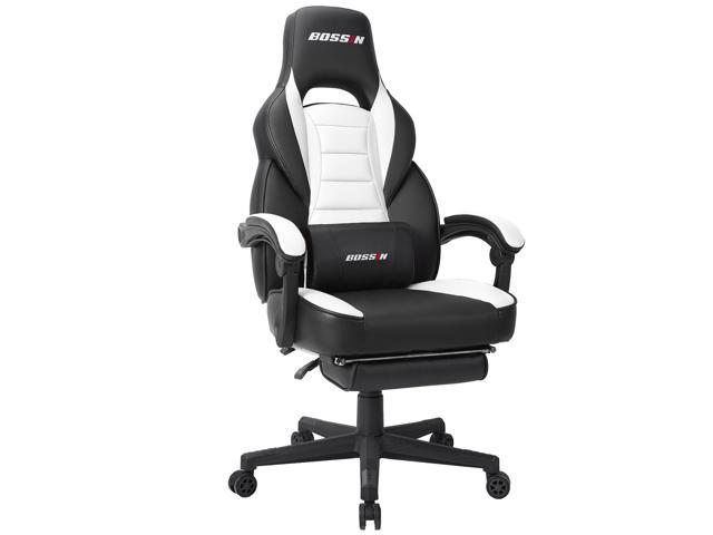 serie 142 chair kiosk design zone swivel bossin racing style gaming computer desk with footrest and headrest ergonomic