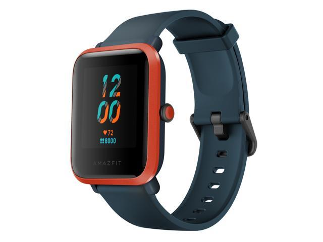 Amazfit Bip S Fitness Smartwatch, 40 Day Battery Life, 10 Sports Modes, Heart Rate, 1.28'' Always-On Display, Water Resistant, Built-In GPS, Red Orange