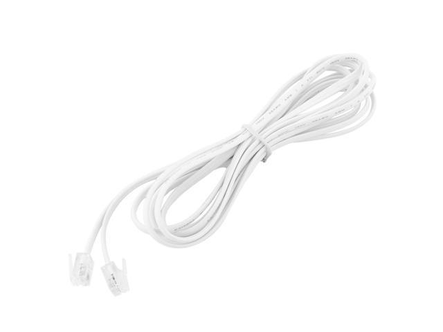 8.5Ft 4P4C Telephone Handset Receiver Extension Cord Phone