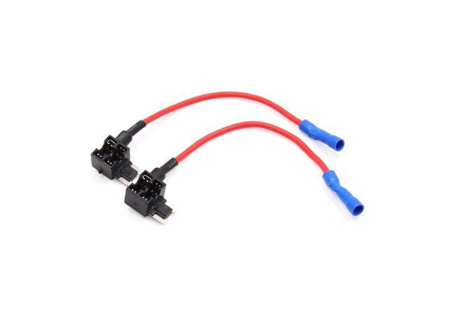 2Pcs Add A Circuit Tap Adapter Low Profile Mini Blade Fuse