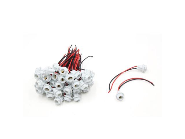 50pcs T10 LED Light Bulb Socket Holder Wiring Harness