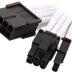 8 Pin Trailer Wiring Diagram Prokaryotes And Eukaryotes Venn Modular Power Supply Cables Newegg Com Silverstone Pp07 Pciw Sleeved Extension Cable 1 X 8pin