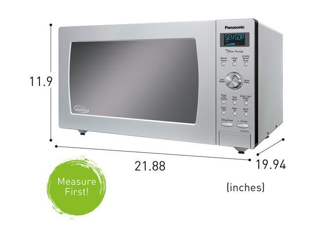 panasonic 1 6 cu ft built in countertop cyclonic wave microwave oven with inverter technology stainless steel nn sd775s