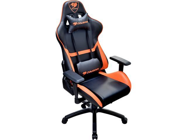 chair leg fishing floats zeus thunder ultimate gaming systems cougar armor orange with breathable premium pvc leather and body embracing