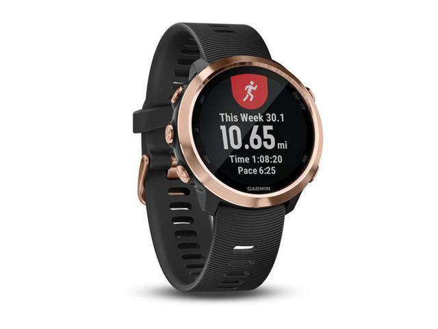 Garmin Forerunner 645 Music Smart Watch - Black/Rose Gold - 010-01863-23