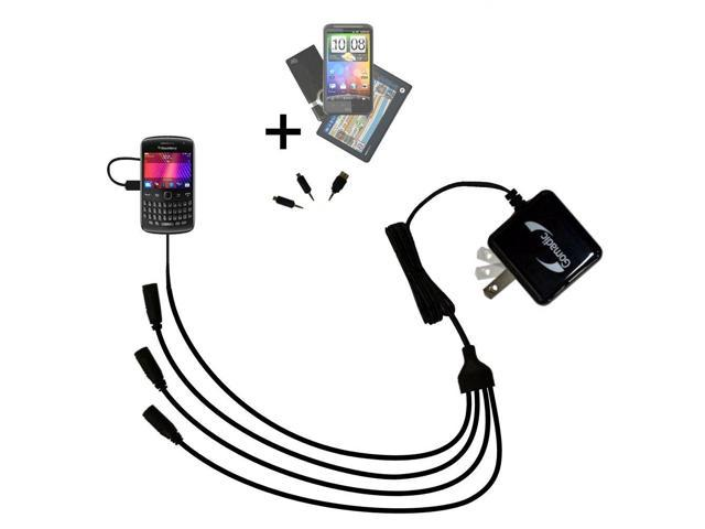 Quad output Wall Charger includes tip for the Blackberry