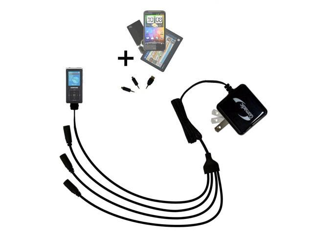 Quad output Wall Charger includes tip for the Samsung YP
