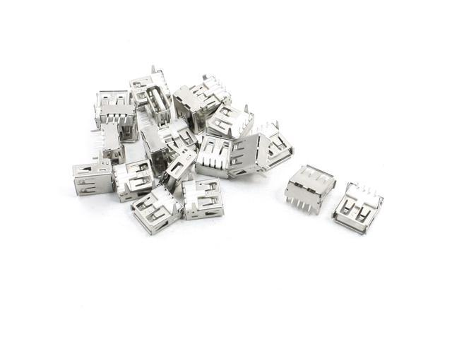 Global Bargains 20 Pcs USB A Type Female 4 Pin Jack Plug