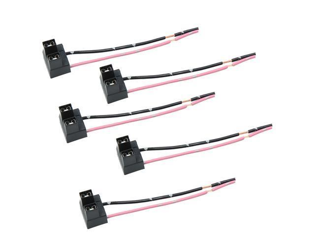5pcs DC 12V Car Bulb Light Wiring Harness Socket Extension
