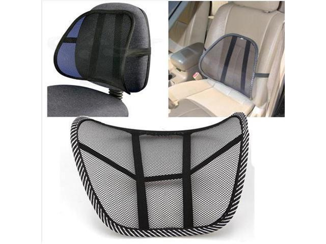 chair back brace wedding covers montreal black mesh lumbar support pillow office home car seat cushion