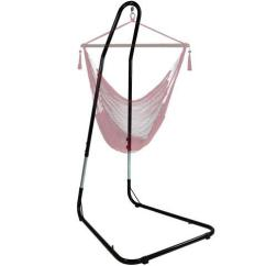 Hammock Chair Stand Adjustable Outdoor Bar Sunnydaze For Hanging Chairs Swings Adjusts Between 79 To 93