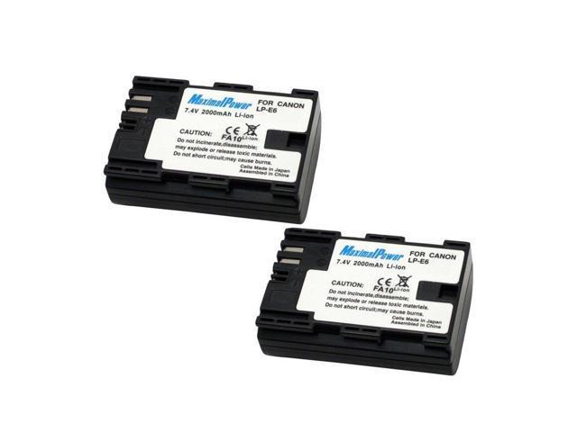 MaximalPower 2PCS Replacement Battery for Canon LP-E6