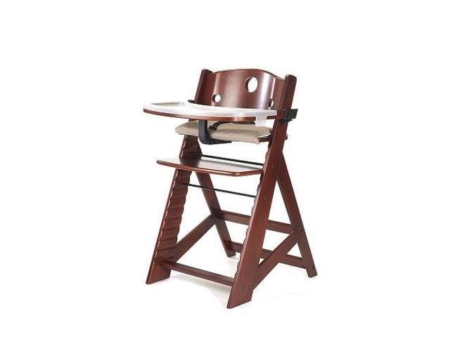 keekaroo high chair light brown leather wingback height right with tray mahogany newegg com