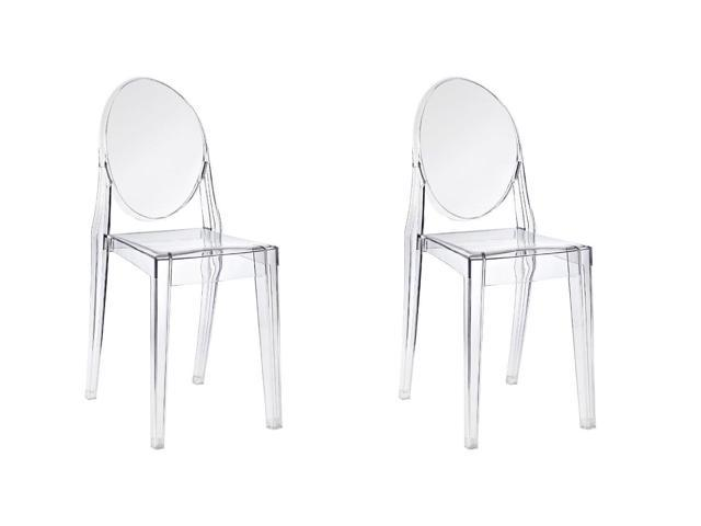 plastic see through chair pod hanging cushion btexpert pair of modern accent transparent dining ghost armless clear set
