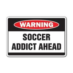 Soccer Mom Covered Chairs Spandex Chair Covers Nz Addict Warning Sign Sport Team Fun Funny Gift Coach Ball Award - Newegg.com