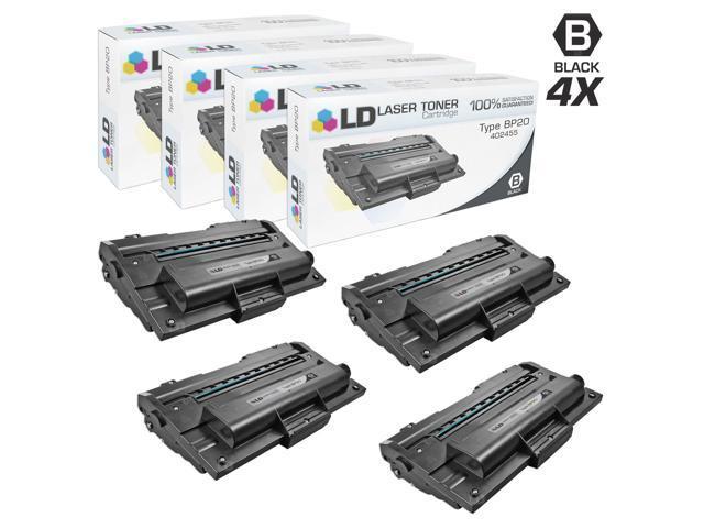 LD © Compatible Ricoh 402455 Set of 4 Black Laser Toner