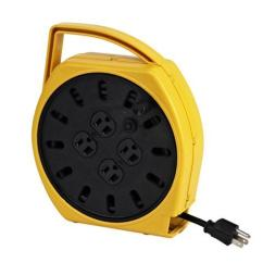 Extension Cord Reel Room Setup Diagram Multi Outlet Resettable Breaker Alert Stamping Pro 6000 25g