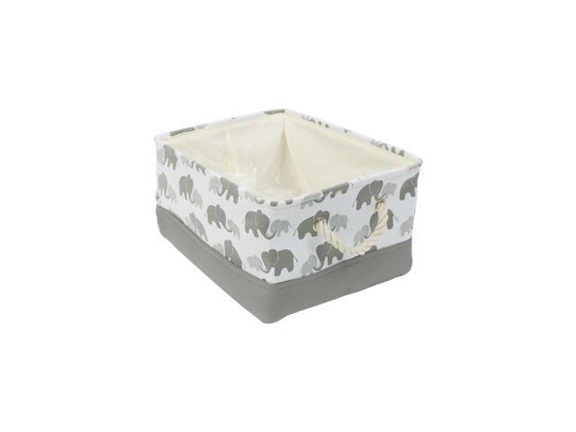 Small Storage Basket Bins For Toy Organizer Collapsible Laundry Basket With Drawstring Closure For Clothes Closet Shelves Small 12 2 X 8 3 X 5 1 Grey Elephant Newegg Com