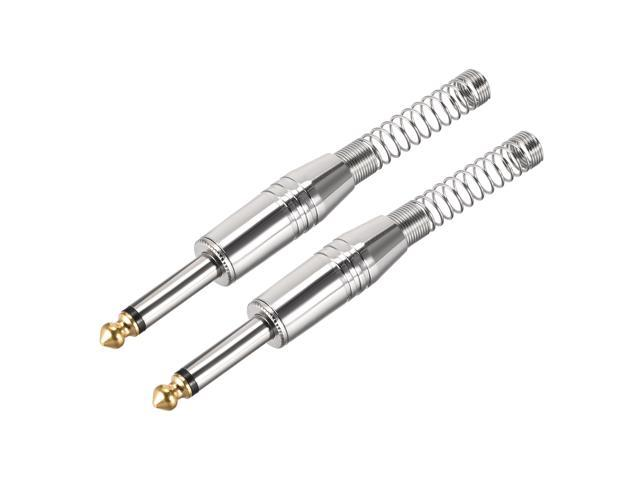 6.35mm Mono Male Jack Solder Guitar Connector Audio Video