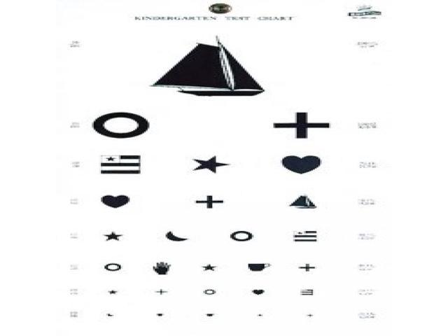 Grafco 1243 Kindergarten Plastic Eye Chart, 22