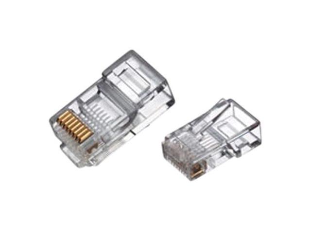 RJ45 8 Conductor Crimp End Connector for Cat5 Ethernet