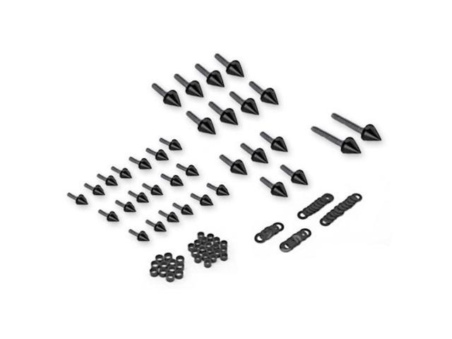 Motorcycle Spike Fairing Bolts Black Spiked Kit For 1999