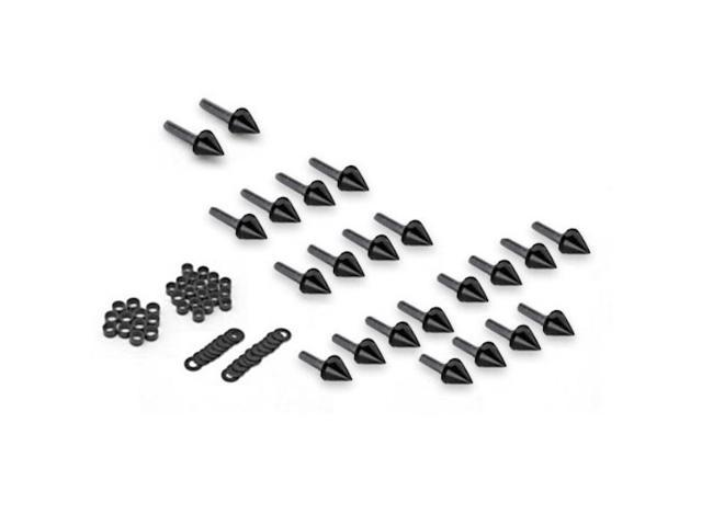 Motorcycle Spike Fairing Bolts Black Spiked Kit For 2003