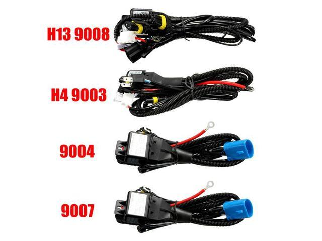 SET OF H4 9003 To H13 9008 Pigtail Wiring Harness Adapters ... H Wiring Harness Standard on