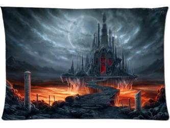 Fantastic World Gothic Castle Moon Fantasy Style Pillow Case 20x30 Inch Zippered Pillowcase Newegg com