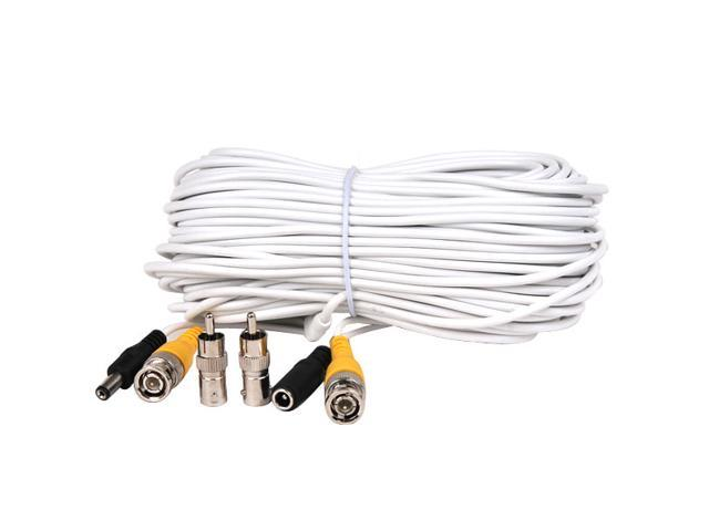 VideoSecu 50ft Video Power Extension Cable Wire Cord with