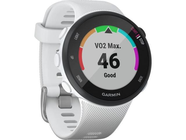 Garmin Forerunner 45s, 39MM Easy-to-Use GPS Running Watch with Garmin Coach Free Training Plan Support, White