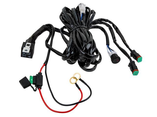 Totron 14 Gauge Dual Light Wiring Harness with Relay and