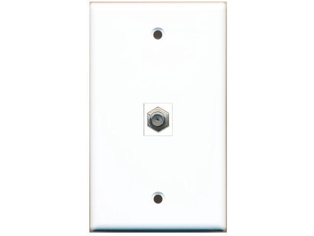 RiteAV 1 Coax Cable TV F Type Wall Plate Coupler Keystone