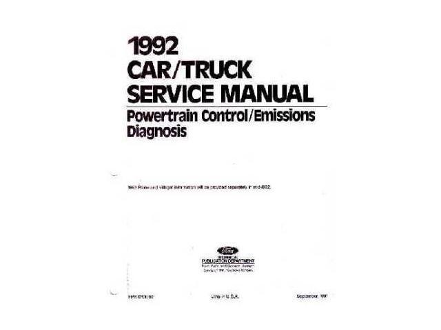1992 Ford Lincoln Mercury Emissions Diagnostic Procedure