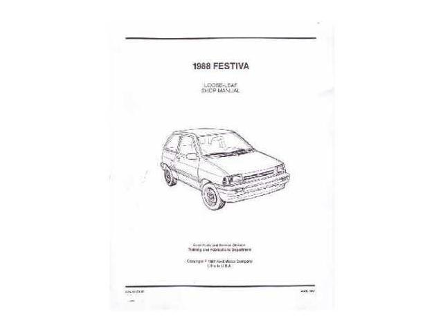 1988 1989 Ford Festiva Shop Service Repair Manual Engine