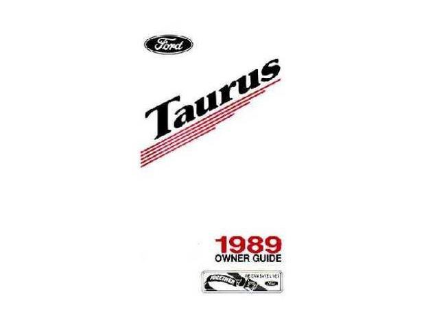 1989 Ford Taurus Owners Manual User Guide Operator Book