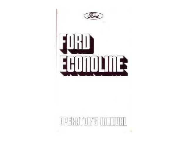 1975 Ford Econoline Van Owners Manual User Guide Reference