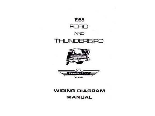 1955 Ford Electrical Wiring Diagrams Schematics Manual