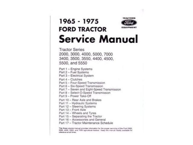 1965-1975 Ford Tractor 2000-7000 Shop Service Repair Book