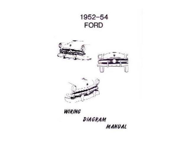 1952 1953 1954 Ford Electrical Wiring Diagrams Schematics