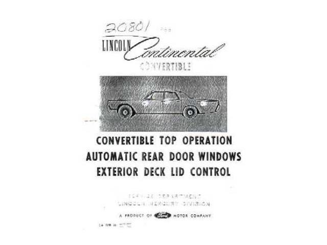 1966 Lincoln Convertible Electrical Wiring Diagrams