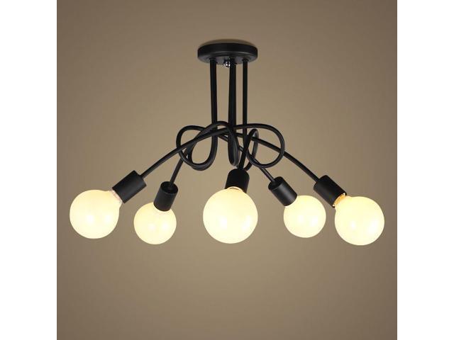 Oovov Creative Iron Study Room Ceiling Lights Simple Dining Room Ceiling Light Living Room Bedroom Ceiling Lamp Black Newegg Com