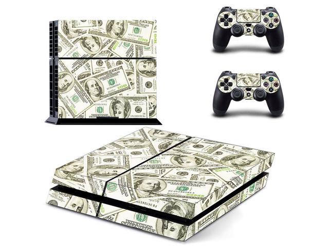 eXtremeRate Dollar Cash Sticker Decal Skin Cover for Dualshock 4 PS4 Console Controller