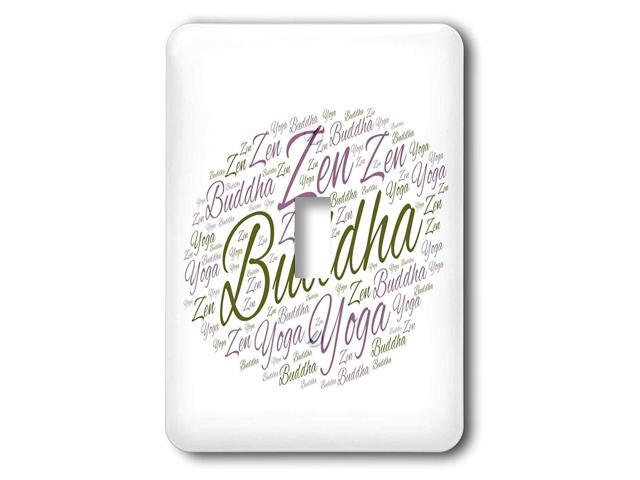 3dRose lsp_254436_1 Buddha Zen Yoga Letters with White