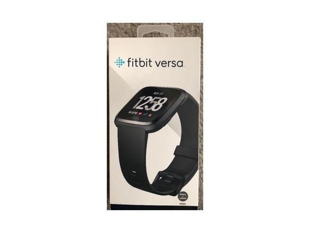 Fitbit Versa Smart Watch Black and Black Aluminium One Size S & L Bands Included