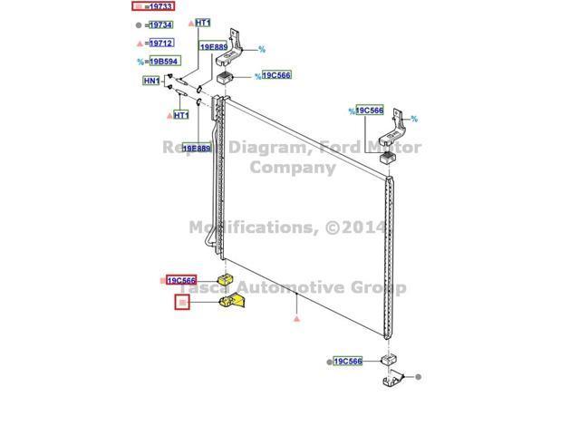 OEM A C Condenser Rh Lower Bracket F250 F350 F450 F550