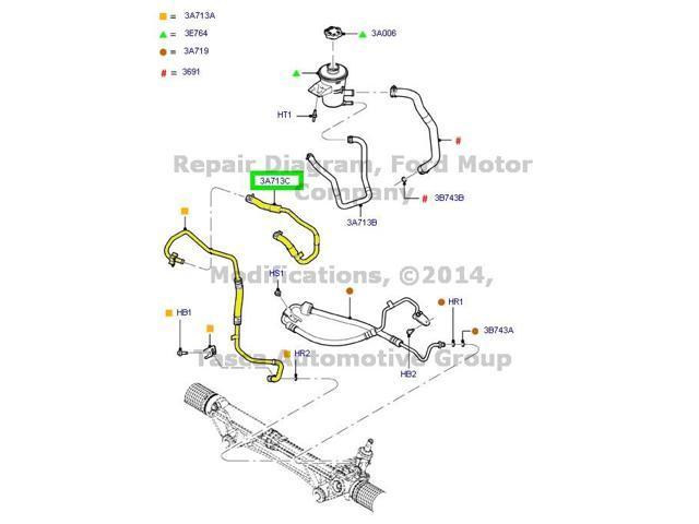 OEM Power Steering Hose 2012-2013 Ford F150 W/ 6.2L 16V