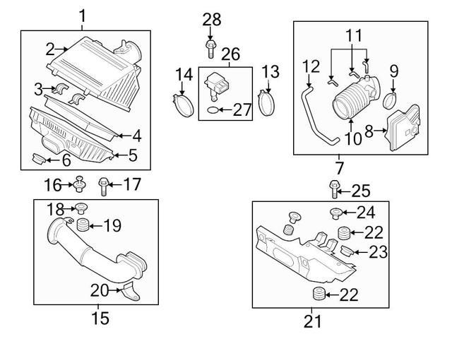 Mazda OEM Air Filter Housing Lid Clip #N3H1-13-Z27